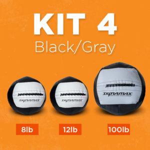 Kit 4 in Black & Gray